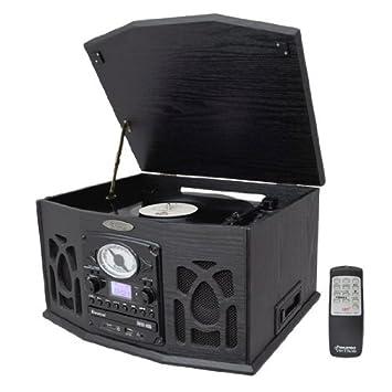 Amazon.com: Pyle Home Tocadiscos ptcds5u clásico con entrada ...