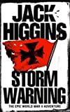 Front cover for the book Storm Warning by Jack Higgins