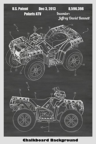 All Terrain Vehicle ATV Patent Print Art Poster: Choose From Multiple Size and Background Color Options ()