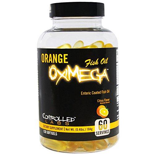 Controlled Labs, Orange OxiMega Fish Oil, Citrus Flavor, 120 Softgels - 3PC