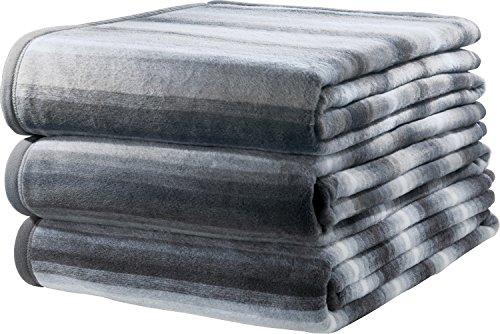 Ibena Sofaläufer 3er-Pack Baumwollmischung grau Größe 50x200 cm