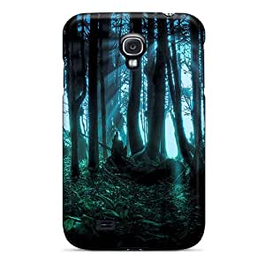 Rugged Skin Case Cover For Galaxy S4- Eco-friendly Packaging(woods)