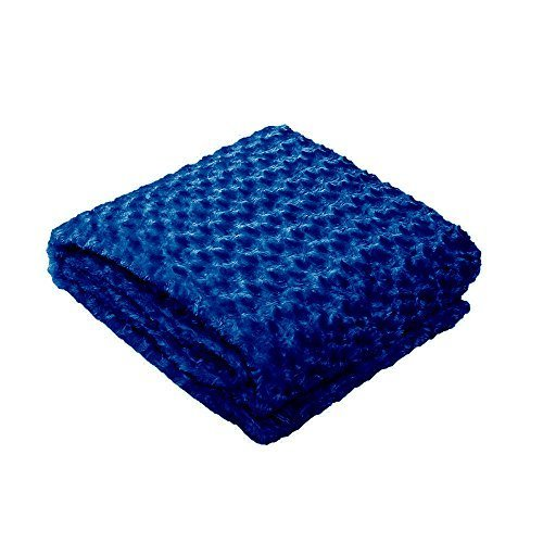 ZonLi Removable Duvet Cover for Weighted Blanket | Navy | Soft Chenille Duvet Cover | 48''x72''