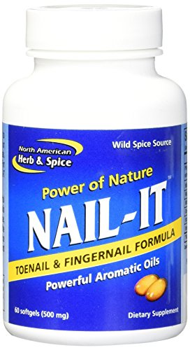 North American Herb and Spice Nail-It Gelcaps, 60 Count ()