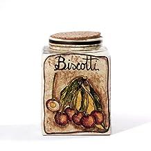 Biscotti Square Jar with Cherries