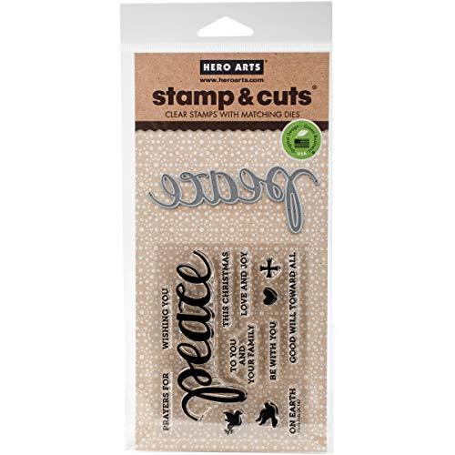 Hero Arts DC187 Stamp & Cut, Peace