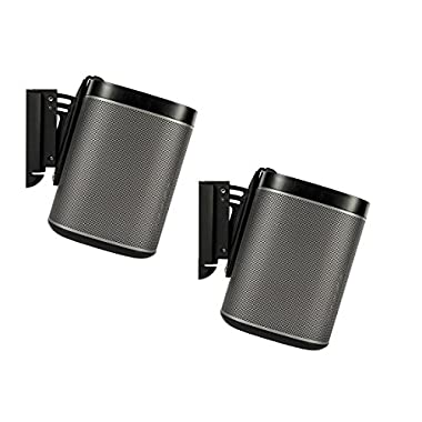 FLEXSON AAV-FLXP1WB2021 Wall Bracket for PLAY:1 SONOS Speakers, Pair, Black