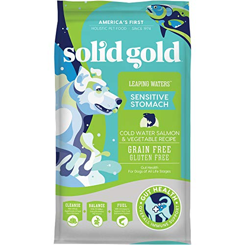 Solid Gold – Leaping Waters with Cold Water Salmon & Vegetable Recipe – Grain Free & Gluten Free for Sensitive Stomachs…
