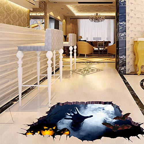 CVB 3D Halloween Crossover Pumpkin Wall Stickers for Living Room Home Wall Art Decor DIY Removable Decals Kids Gift