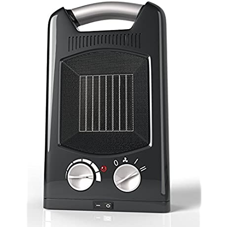 Royal Personal Ceramic Heater 1500W 3 Adjustable Settings With Oscillation Portable Electric Space Heater Fan Maximum Safety With Cool Touch Handle