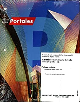 Spanish online portales 24 months access and looseleaf companion spanish online portales 24 months access and looseleaf companion edition vhl 9781680041965 amazon books fandeluxe Images