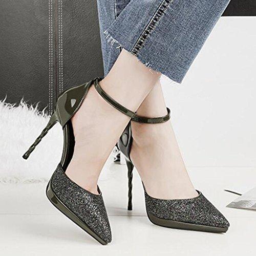 Escarpins Aiguilles Chaussures Conseils Court Discothques Stiletto Motif Pour Talons Plateformes Vert Mode Sandales Party Holiday Sexy f88U1pzcF