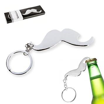 Llavero del bigote abrebotellas - Llavero de metal con la ...