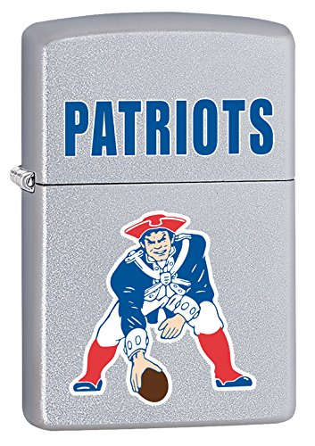 - Zippo Lighter NFL Throwback New England Patriots Satin Chrome