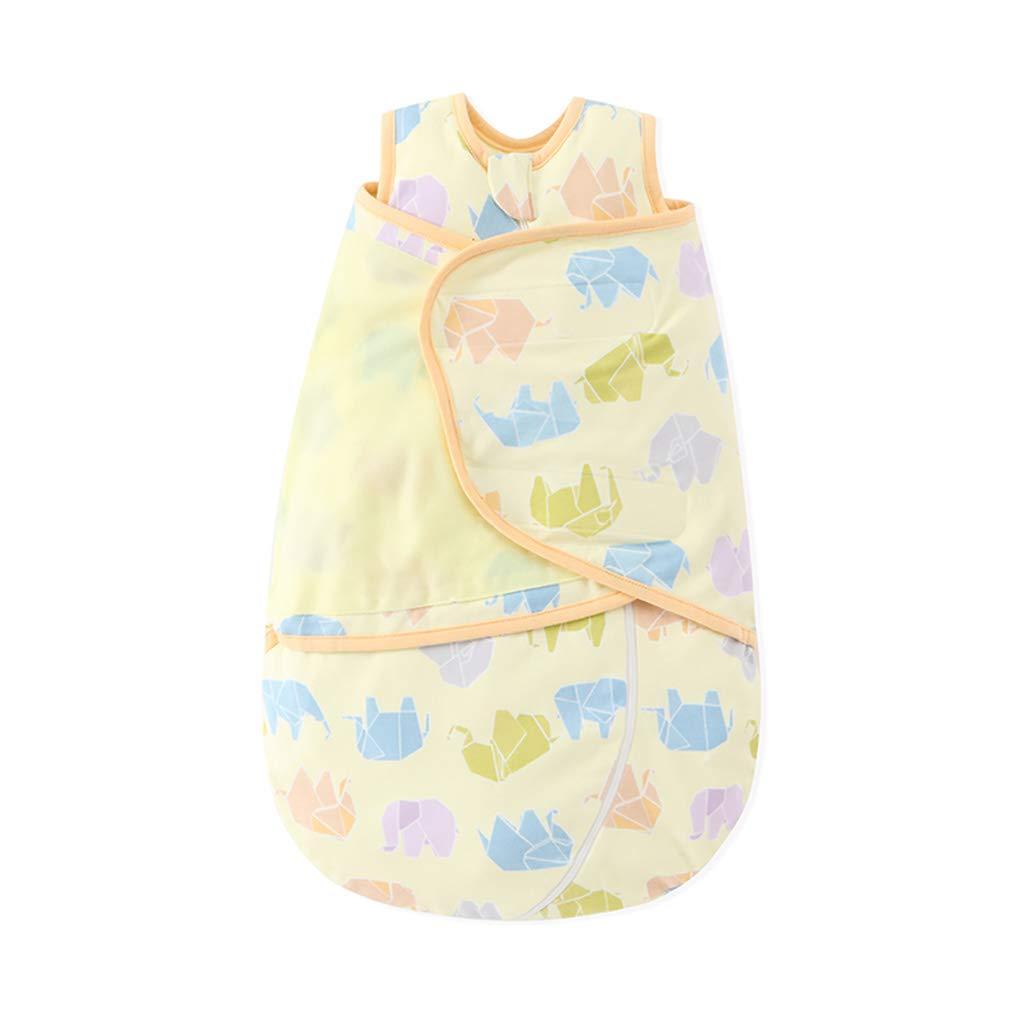 HUYP 赤ちゃん寝袋ラップ毛布新生児ユニセックス06ヶ月春と秋の綿ラップされたアンチキック寝袋 (色 : Yellow B-double layer, サイズ さいず : 59 yards) B07P1RB2S7 66 yards|Yellow B-double layer Yellow B-double layer 66 yards