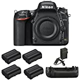 Nikon D750 DSLR HD FX-Format Camera, MB-D16 Pack, 4 Batteries, and Charger - Includes Camera, MB-D16 Multi Battery Power Pack, 4 EN-EL15 Rechargeable Li-Ion Batteries, and AC/DC Battery Charger