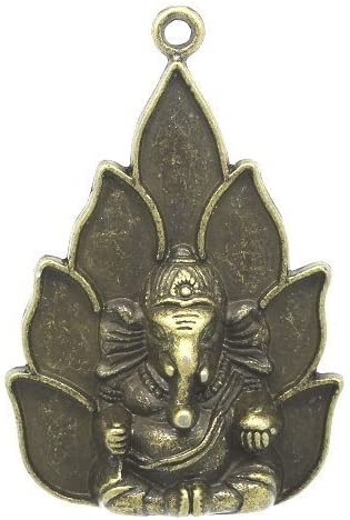4 x Steampunk Antique Bronze Tibetan 53mm Lord Ganesha Charm//Pendant ZX07115