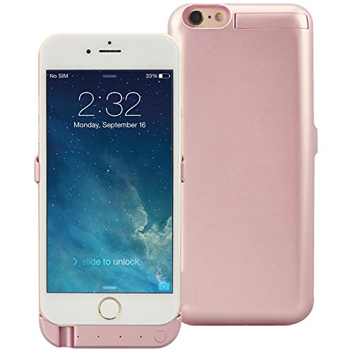 iPhone 6S Battery Case(4.7 Inch), KOVOL Portable Charger Charging Case for iPhone 6S (Rose Gold, 5000 mAh) ()