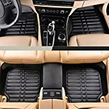 nice car mats - Car Floor Mat for Honda Accord 2013 2014 2015 2016 by Big Hippo Leather Front&Rear Waterproof Auto Floor Mat Carpet-All Weather Protector Mat 3 piece set (Black)