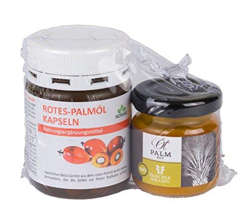 ROTES PALMÖL KAPSELN + BIO ROTES PALMÖL IM GLAS (Vitamin E, Vitamin A - carotin)