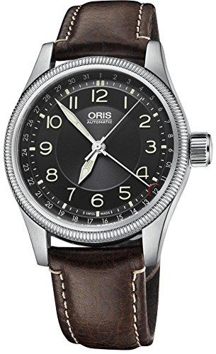 Oris Big Crown Pointer Date Black Dial Brown Leather Mens Watch (Big Crown Pointer)