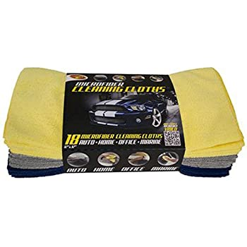 Detailer's Choice 3-541 Microfiber Cleaning Cloths - 18-Pack
