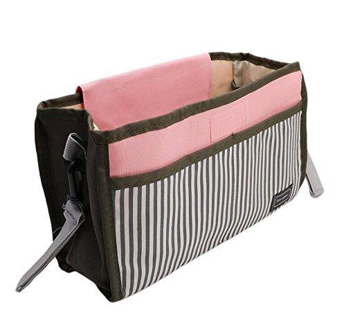 Rcdxing 1PC tragbar Wasserdicht Kinderwagen Buggy Organizer Aufbewahrungstasche Buggy zum Aufhängen bag-pink