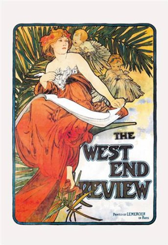Walls 360 Peel & Stick Wall Decals: The West End Review by Alphonse Mucha (16 in x 24 in)