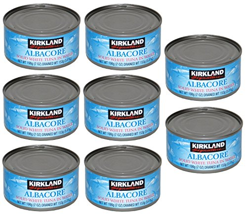 Kirkland Albacore Solid White Tuna in Water - 8 Cans (Total Net Weight 3.5lbs)