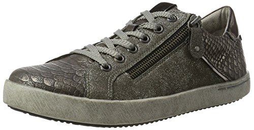 gold Gold Low Steel 91 Sneakers Altsilber Women's Remonte 4 D5201 Top UK Moro Silver 8wvvZR