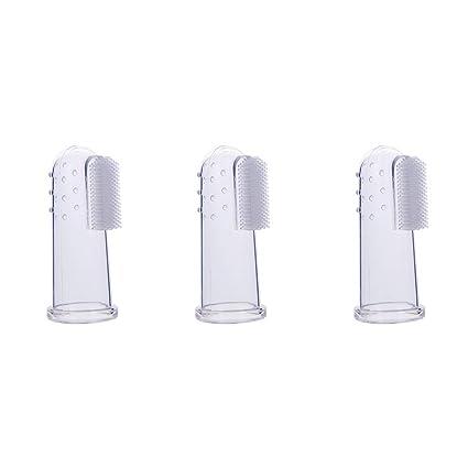 TrifyCore El dedo de silicona establece la protección del cepillo de dientes del bebé el dedo