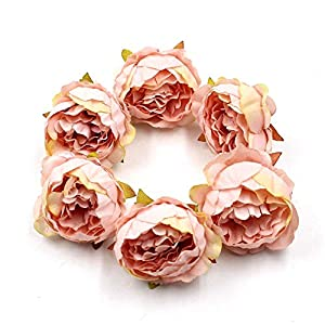 FLOWER 15pcs/lot 5cm Peony Head Silk Artificial Wedding Decoration DIY Garland Scrapbook Gift Box (Champagne) 1