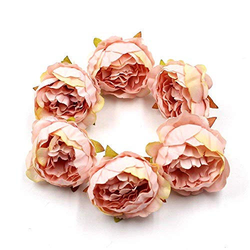 (FLOWER 15pcs/lot 5cm Peony Head Silk Artificial Wedding Decoration DIY Garland Scrapbook Gift Box (Champagne))