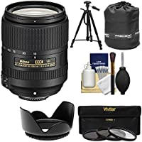 Nikon 18-300mm f/3.5-6.3G VR DX ED AF-S Nikkor-Zoom Lens with 3 Filters + Hood + Tripod Kit for D3200, D3300, D5300, D5500, D7100, D7200 Cameras