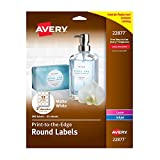 Avery Print to The Edge Round Labels, 2'' Diameter, Matte White, Pack of 300 (22877)