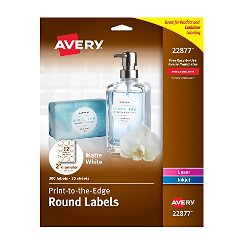 Avery Print to The Edge Round Labels, 2