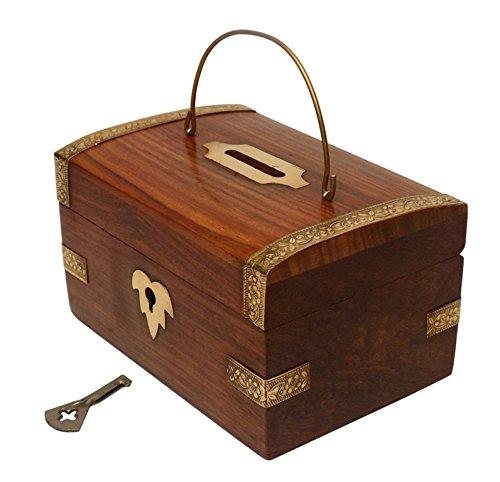 Crafts'man Chritmas Gift/Chritmas Sale Handmade Wooden Money Bank. A Piggy Bank Cum Coin Bank.