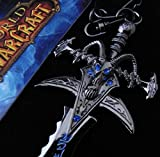 Classic Game World of Warcraft Lich King Arthas Frost Mourne Sword Weapon Model Keychain Metal Pendant