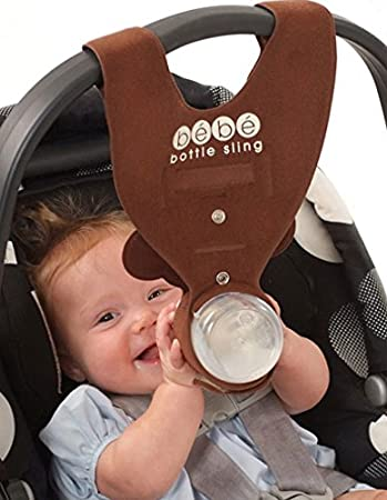 Brown Monkey Baby Bottle Holder For Hands Free Feeding By Bebe Sling LLC Amazonfr Bbs Puriculture