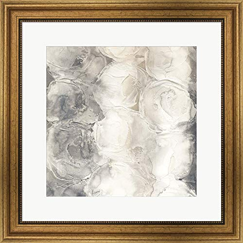 Gray Circles I by Chris Paschke Framed Art Print Wall Picture, Wide Gold Frame, 22 x 22 inches