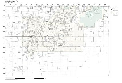 Map Of Homestead Florida.Amazon Com Zip Code Wall Map Of Homestead Fl Zip Code Map