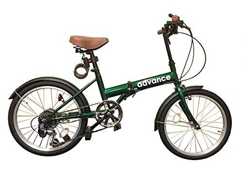 [해외] advance 접이식 자전거 20인치 변속 와이어정 ・ LED핸들 라이트 의 선물 첨부●ad-A