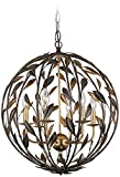 Cheap Broche 21″ Wide English Bronze Chandelier