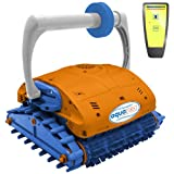 Aquabot NE3350F Aquafirst Turbo Robotic Wall Climber Cleaner with Remote Control for In-Ground Pools, Orange/Blue
