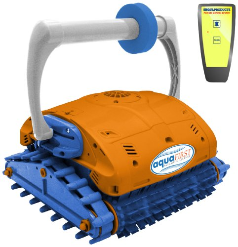 (Blue Wave NE3350F Aquafirst Turbo Robotic Wall Climber Cleaner with Remote Control for In-Ground Pools)