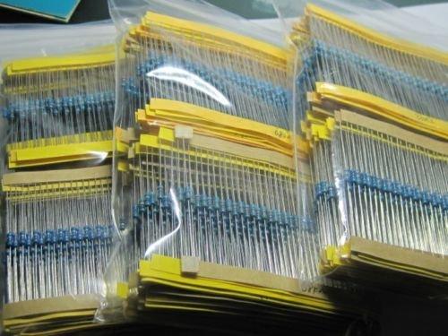 US 1280Pcs 64 values 1 ohm 10M ohm 1//4W Metal Film Resistors Assortment Kit