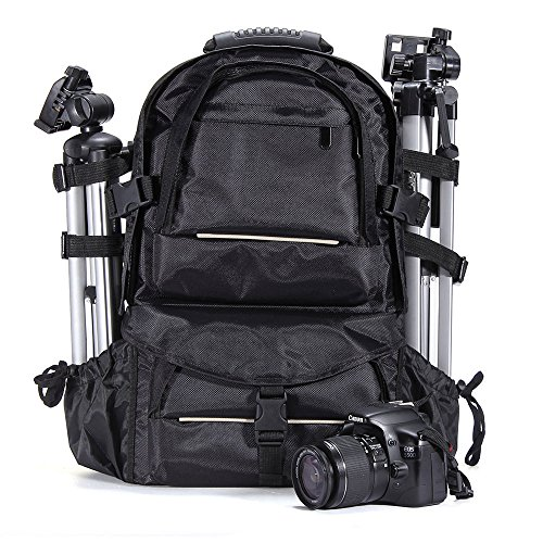Price comparison product image Theera - Deluxe Camera Backpack Bag Case for Sony Canon Nikon DSLR SLR MultifunctionalYRS0773