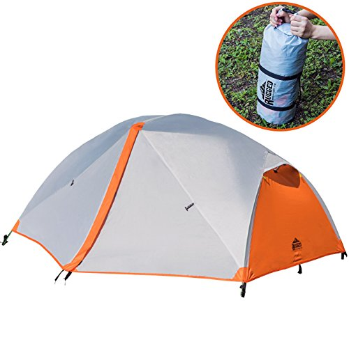 Rugged Mountain Co. 2 Person Tent for Camping - Backpacking - Hiking - Best 3 Season Outdoor Lightweight Sports Waterproof Dome Shelter - Compact Pop Up with Portable Carry Bag by Rugged Mountain Co.