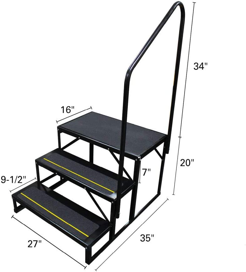Quick Products QP-S5W2S Economy 5th Wheel Stair 3-Step