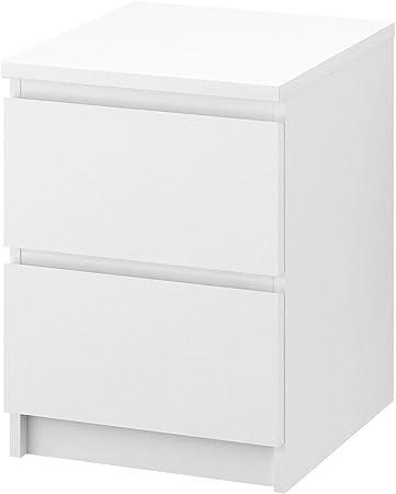 Malm Cassettiera 2 Cassetti.Ikea Malm Cassettiera A 2 Cassetti 40 X 55 Cm Colore Bianco